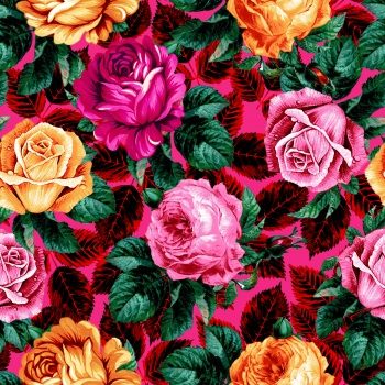 Pattern with Roses -metgala