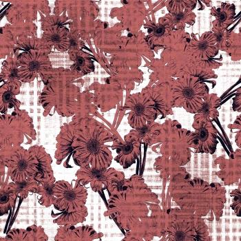 Textured floral deisgn