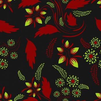 Folk floral art pattern Flowers abstract surface design Seamless pattern