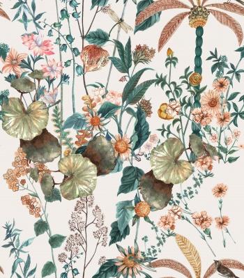 Birds, a dazzling array of flowers