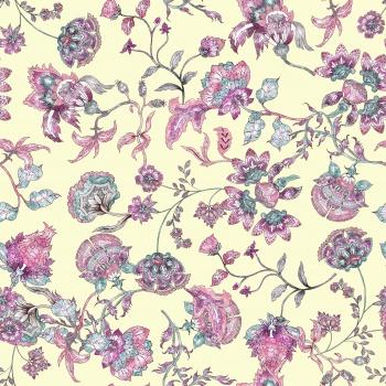 Pink Ethnic Flowers