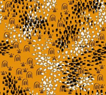 Leopard Spots on Mustard Yellow