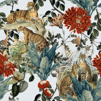 Delicate Flowers Against to Wild Animals
