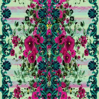 Green Baroque&Fuchsia Nature