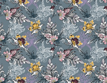 Decorative Vintage Floral Pattern - Seamless pattern
