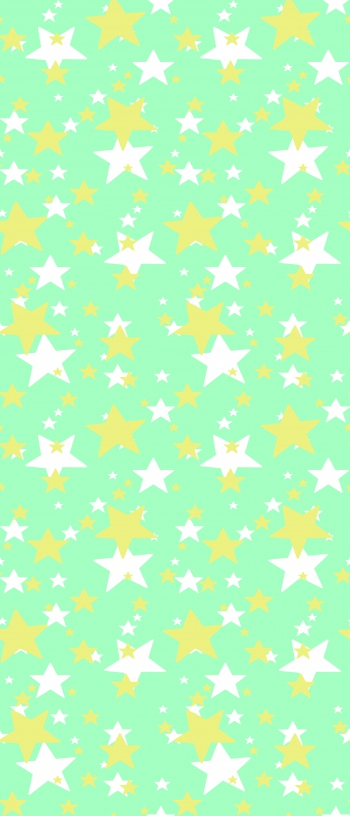 2 colored stars with different sizes
