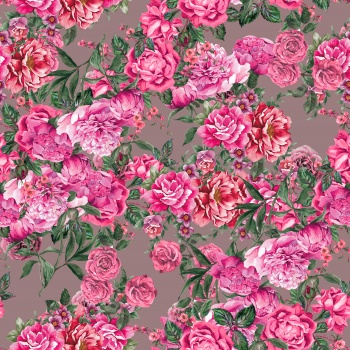 Hand painted pink roses