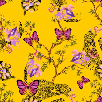 butterfly in floral