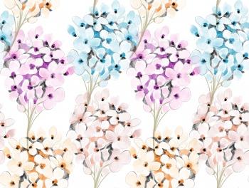 watercolor hydrangea flower pattern