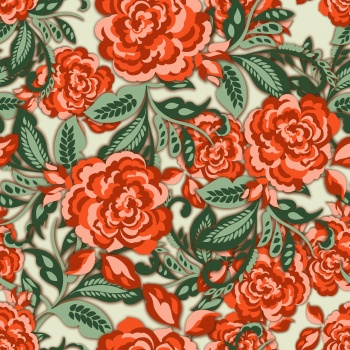 Stylised Red Flowers