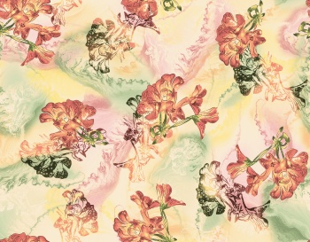 Textile digital background multi color flower pattern