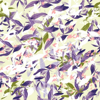 Delicate bright leaves pattern