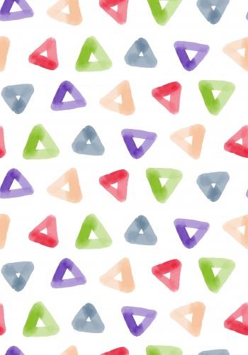 Abstract beautiful watercolor triangle geometric pattern
