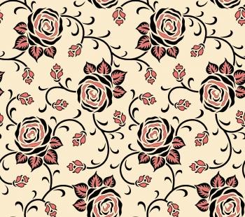 seamless rose flower pattern