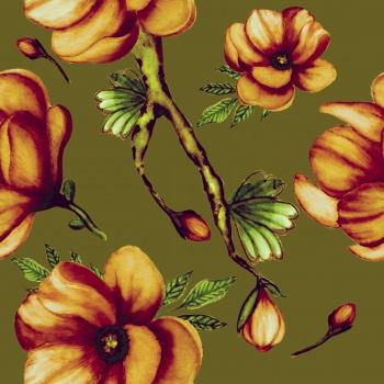 Seamless Magnolia Pattern