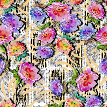 Bright Flowers on Ethnic