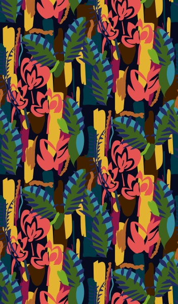 Stylised Colorful Jungle