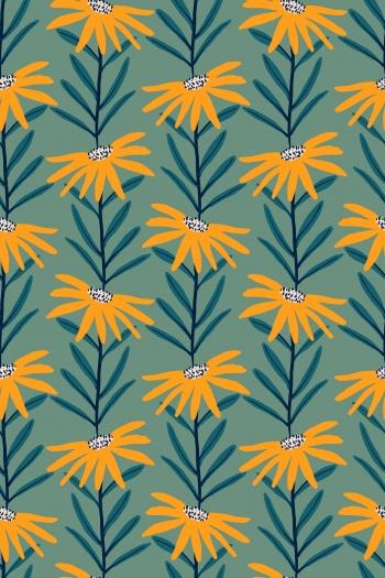 Yellow abstract chrysanthemum