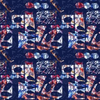 Watercolor wild pattern
