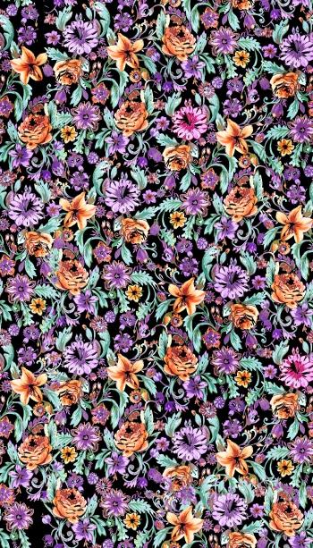 Orange and Purple Lilies