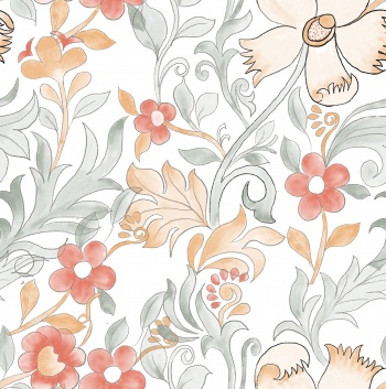 traditional flower semaless pattern