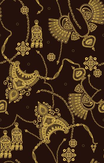 seamless jewellery gold print