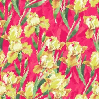 Blurred Yellow Flowers