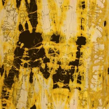 Gorgeous yellow batik