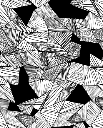 Geo Lines Black and White