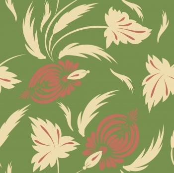 Folk floral pattern. Flowers print.