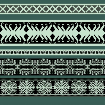 Green Ethnic Rows