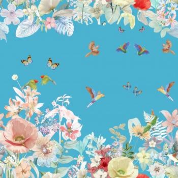 Butterflies, birds, all kinds of flowers