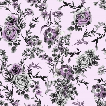 Lilac and Gray Roses