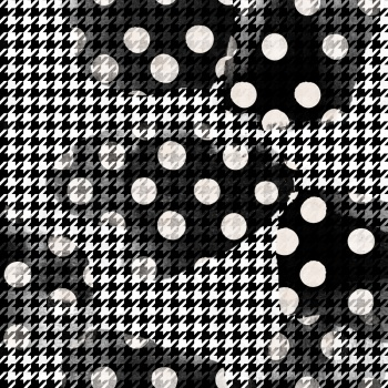 Polkadot with Houndstooth