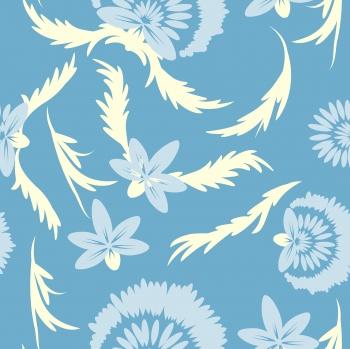 Folk floral art. Flowers print.