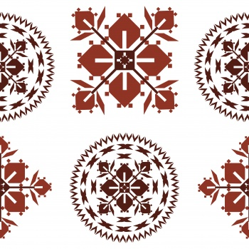 Abstract ethnic folk ornament