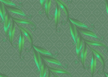 Leaves and diamond shapes