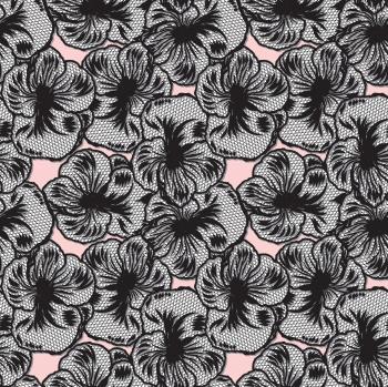 Black Line Art Flowers