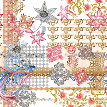 Ethnic flowers and little paisleys