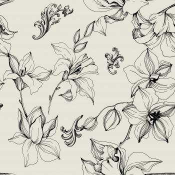 Lineart delicate flowers