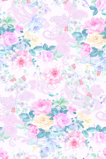 Paisley, butterfly, peony, rose