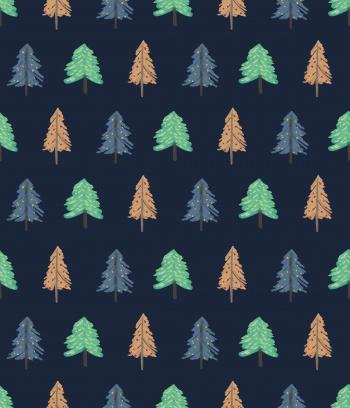 Abstract beautiful watercolor pine tree