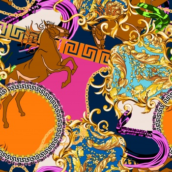 Baroque Ornamnets & Horse