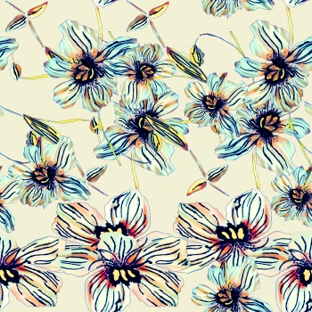Lineart Artistic Flowers