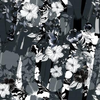 Gray Brushstrokes