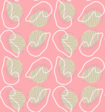 curvy circles abstract geometric pattern