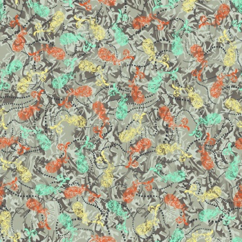 Photography doodles seamless pattern