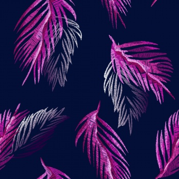 Embroidered Palm Leaves