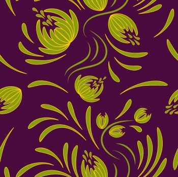 Folk floral pattern. Abstract flowers print.