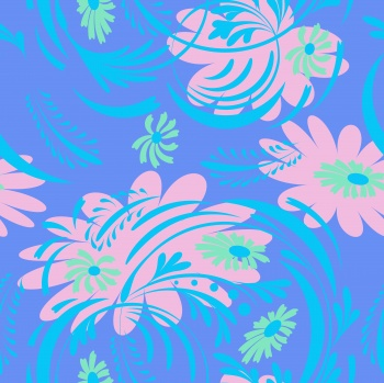Folk floral pattern. Abstract flowers surface design. Seamless pattern